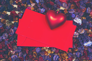 abstract picture for Valentine day, vintage filter image