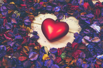 Art picture background of Love, vintage filter image