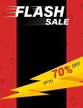 Flash sale poster template