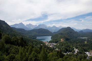 German Mountain Lake, Village and Castle
