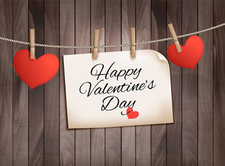 Happy Valentine's day background with hearts. Vector.