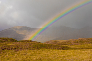 Rainbow in Scottish Highlands