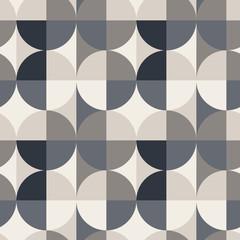 Circle square illusion seamless pattern. For print, fashion design, wrapping, wallpaper