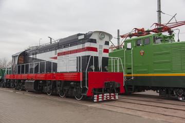 Bright colored train