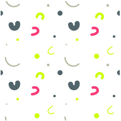 Curvy kids funny seamless pattern. Design for print, fabric, textile. Seamless wallpaper
