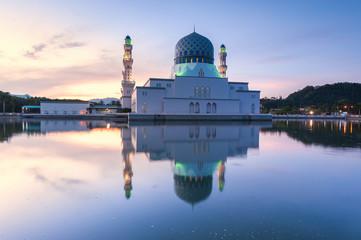 City Mosque of Kota Kinabalu, Malaysia during Sunrise.