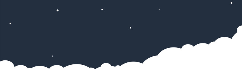 Clouds on a night sky background. Vector illustration