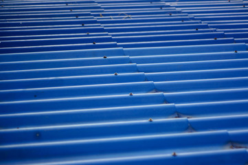 Blue wave on the roof of hometown