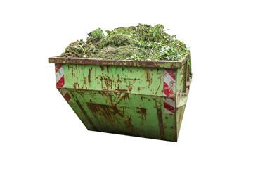 Grünabfälle Container isoliert