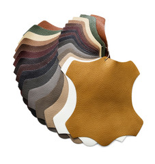 Samples of artificial leather, including Clipping Path