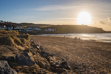 Summerleaze sunset in Bude, Cornwall