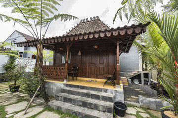 Traditional JOGLO wooden house in Java, Indonesia.