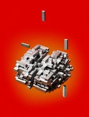 Interconnected metallic blocks