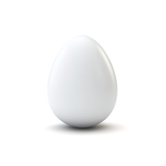 white luxury easter egg. 3D Rendering