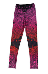 Colored pants for yoga. Isolate on white