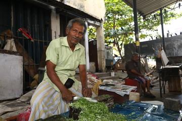 Straßenmarkt und Handel in den Straßen von Colombo in Sri Lanka