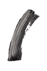 Smeared black mascara on white background