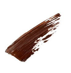 Smeared brown liquid cosmetics on white background