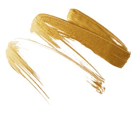 Smeared gold liquid cosmetics