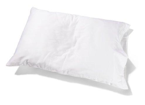 Clean white pillow on white background