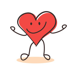 Heart cartoon happy emotion