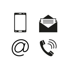 Contacts telephone icons