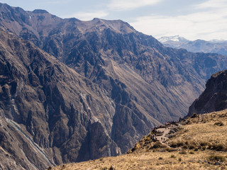 Colca canyon in Peru, panoramic view point