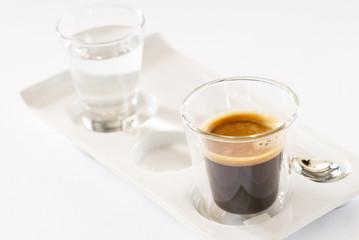 espresso on the white