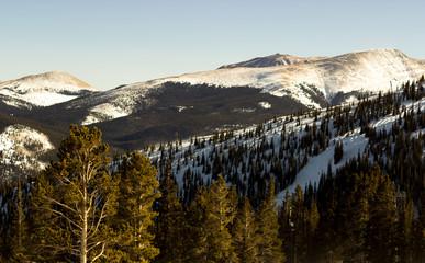 View of mountains in Breckenridge, Colorado.