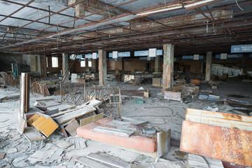Supermarket in Chernobyl exclusion zone, Pripyat, Ukraine