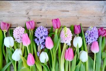 Grußkarte - Frühlingsblumen