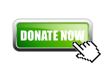Donate now vector green banner