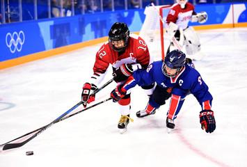 Olympics: Ice Hockey-Women Team Group B - KOR-JPN