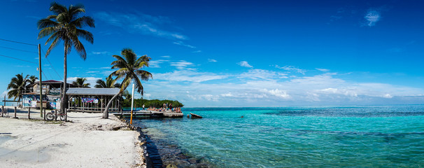 Caye Caulker ocean in Belize