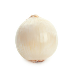 Fresh ripe onion on white background