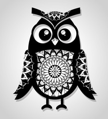 owl mandala boho style vector illustration design