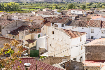 a view over Maluenda town, province of Zaragoza, Aragon, Spain
