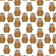 owl cute wild animal character background