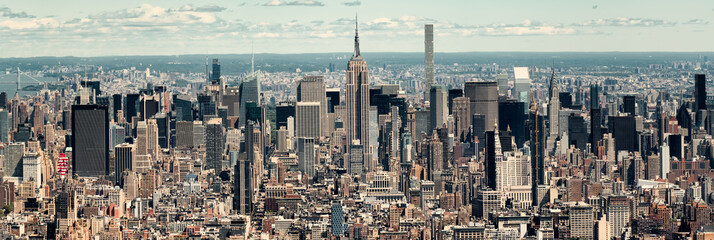 Panoramic view of midtown Manhattan in New York City