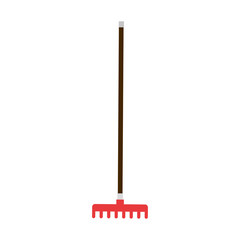 gardening rake isolated icon vector illustration design