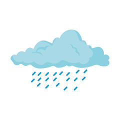 weather cloud rainy icon vector illustration design