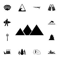 egyptian pyramids icon. Set of tourism icons. Signs of collection, simple icons for websites, web design, mobile app, info graphics