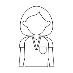 Nurse faceless avatar icon vector illustration graphic design