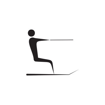 water skiing icon. Elements of beach holidays icon. Premium quality graphic design. Signs and symbols icon for websites, web design, mobile app