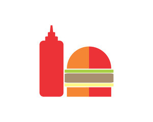 burger fast food food culinary dish cuisine eat delicious image vector icon