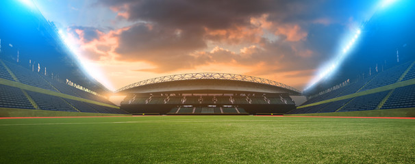 stadium night before the match