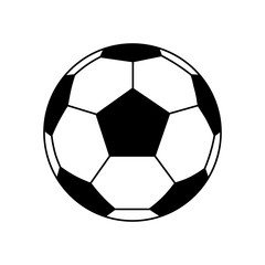 Football icon, Fottball logo isolated in black and white