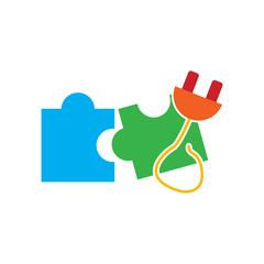 Power Puzzle Logo Icon Design