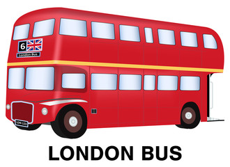 england london bus vector on white background