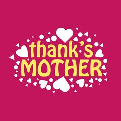 Thank's Mother Vector Template Design
